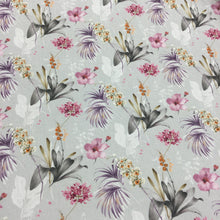 Load image into Gallery viewer, Grey Floral Cotton Poplin