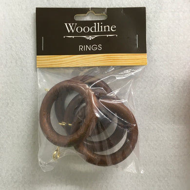 Rosewood Woodline Rings - 28mm