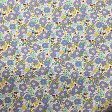 Load image into Gallery viewer, Blue Floral Cotton Poplin