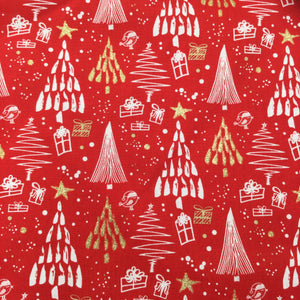 Red Trees Christmas Print