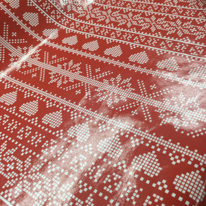 Red Fair Isle PVC