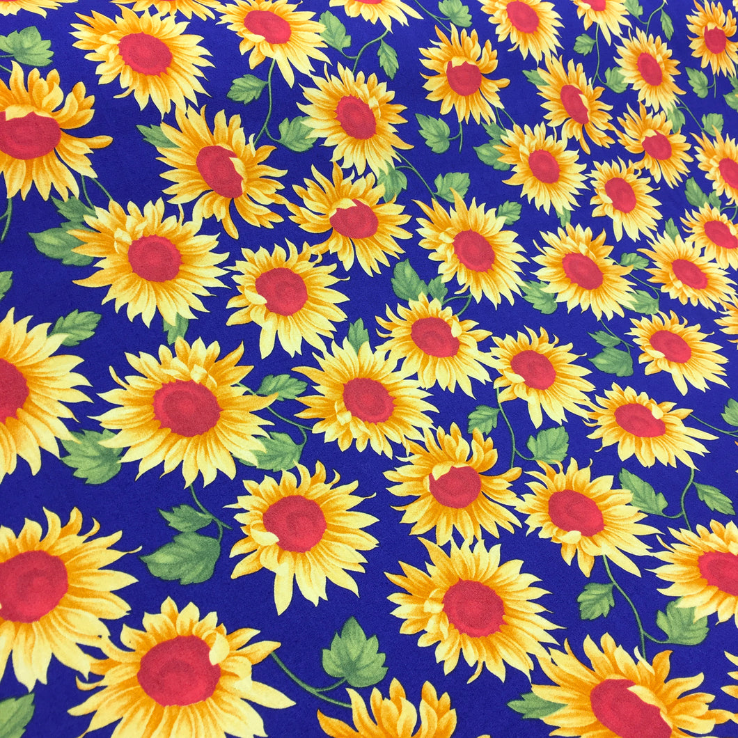 Royal Sunflower Cotton Poplin