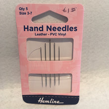 Load image into Gallery viewer, 3/7 Leather-PVC Vinyl Hemline Hand Needles