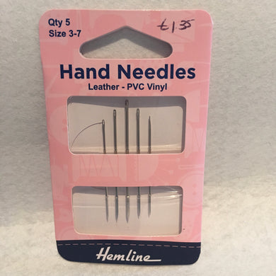 3/7 Leather-PVC Vinyl Hemline Hand Needles