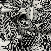 Load image into Gallery viewer, Black/White Flower Print Viscose