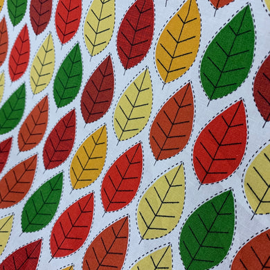 Autumn Leaves Cotton Poplin