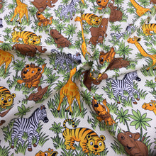 Load image into Gallery viewer, Zoo Animals Cotton Poplin