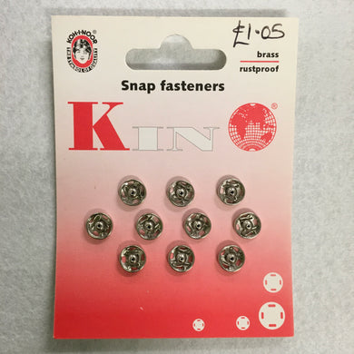 8.5/8mm Nickel Plated Snap Fasteners