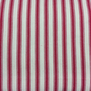 Red Canvas Ticking Stripes
