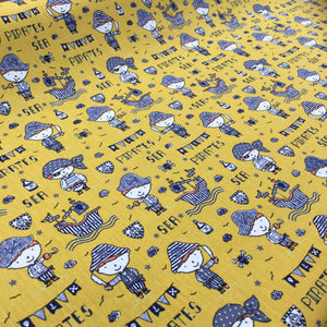 Ochre Pirates Cotton Print