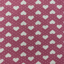 Load image into Gallery viewer, Pink Hearts Cotton Poplin
