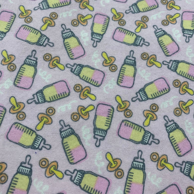 Pink Bottle Cotton Flannel Print