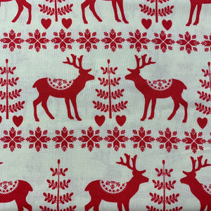 Red Reindeer - Christmas Print