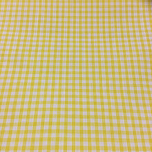 "Load image into Gallery viewer, Yellow 1/8"" Checks Gingham"