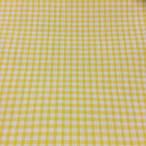 "Yellow 1/8"" Checks Gingham"
