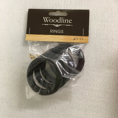 Black Woodline Rings - 28mm