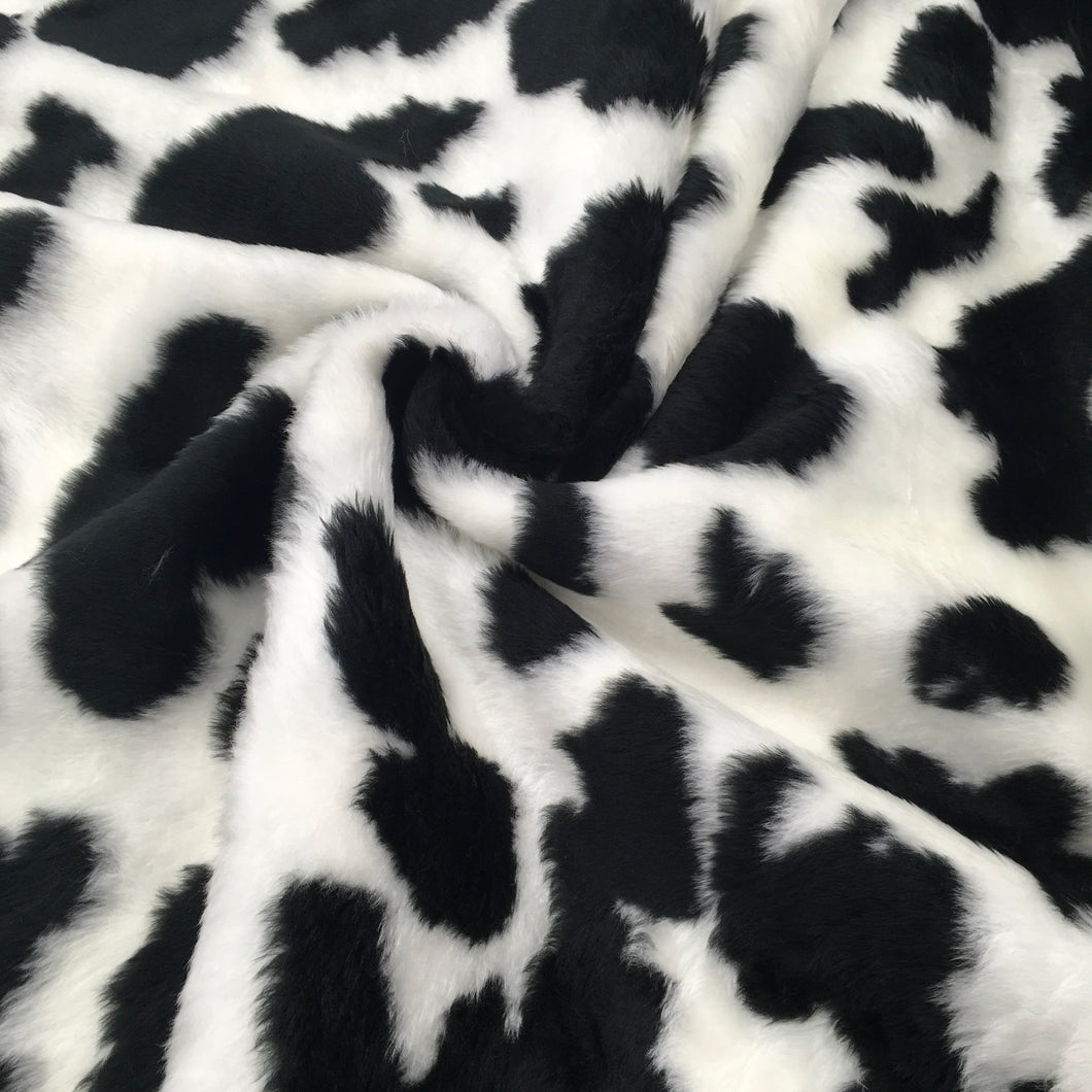 Black Cow Fur Print