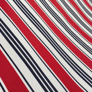 Nautical Stripe PU Canvas