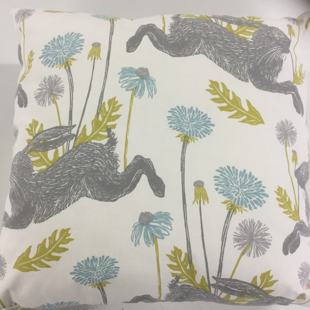 Duckegg March Hare Cushion
