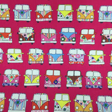 Load image into Gallery viewer, Cerise Campervans Cotton Poplin