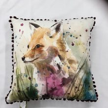 Load image into Gallery viewer, Pom Pom Fox Cushion