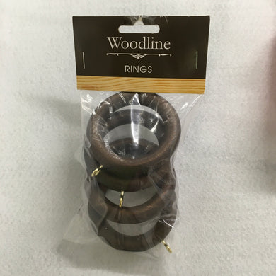 Dark Oak Woodline Rings - 35mm