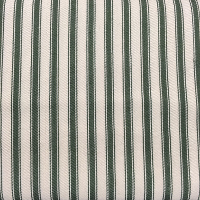 Olive Canvas Ticking Stripes