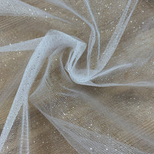 Load image into Gallery viewer, White Glitter Tulle