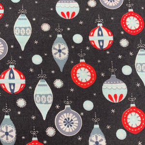 Black Baubles - Christmas Print