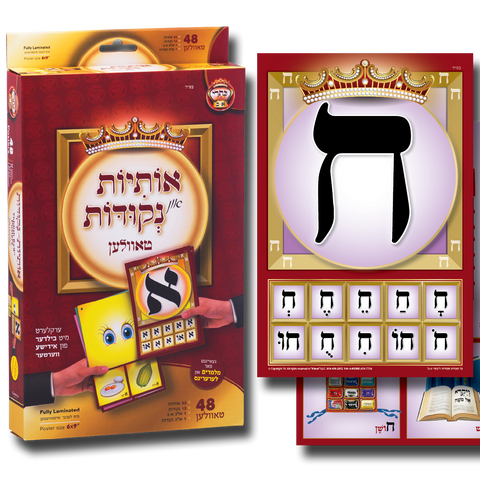 "Alef-Bais flash cards, YIDDISH keywords & beautiful pictures, for teachers (6"" x 9"")"