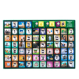 "Alef Bais memory card game - LOSHON-KODESH / ENGLISH captions & beautiful pictures (99 Cards, 2.25"" x 2.25"")"