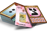 "Alef-Bais flash cards, LOSHON-KODESH / ENGLISH Captions, with beautiful pictures (3"" x 4.5"")"