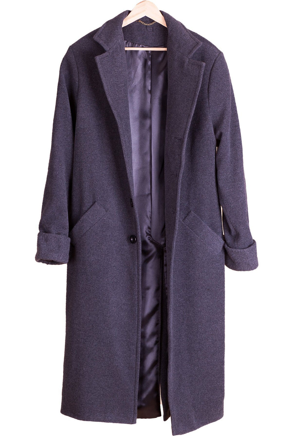 TheG man wool oldschool Overcoat // Dark Gray