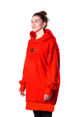 TheG Fresh Oversize Hoody Woman // red