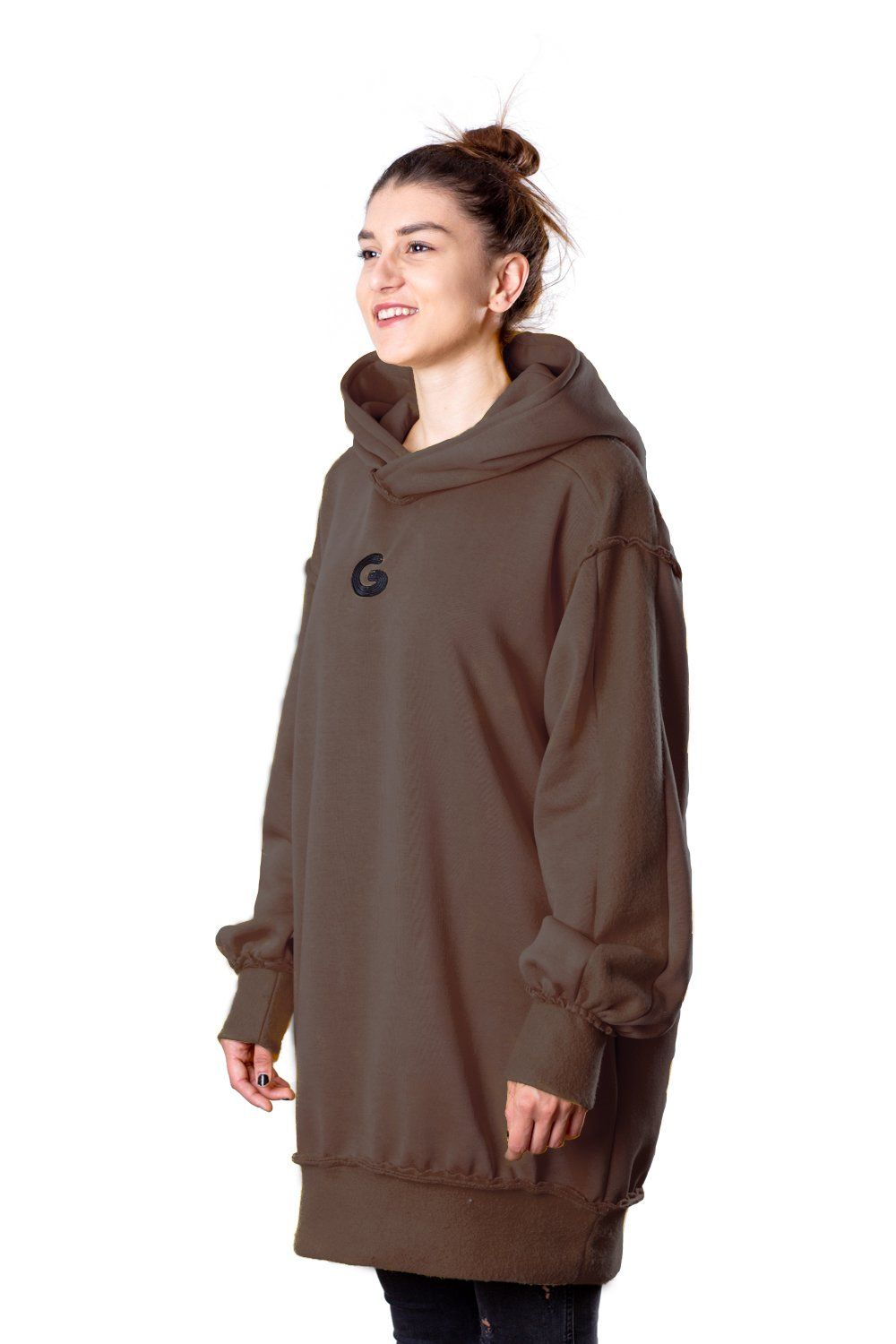 TheG Fresh Oversize Hoody Woman // brown