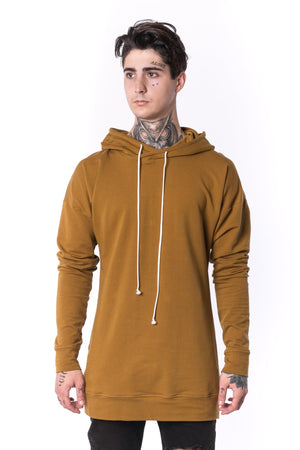 The Man Panelled Hoody 17 // umber