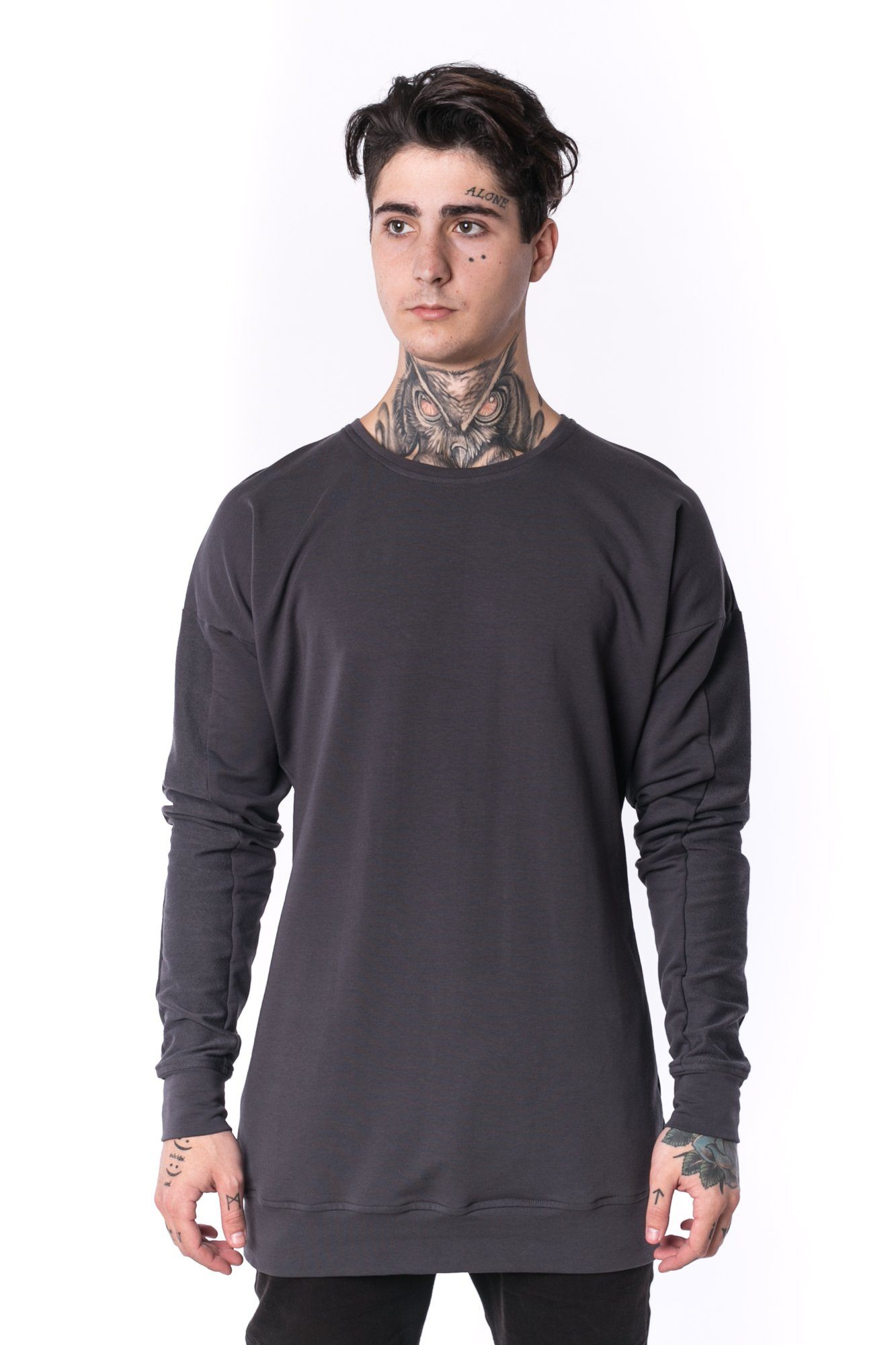 The Man Panelled Pullover Crewneck 17 // charcoal