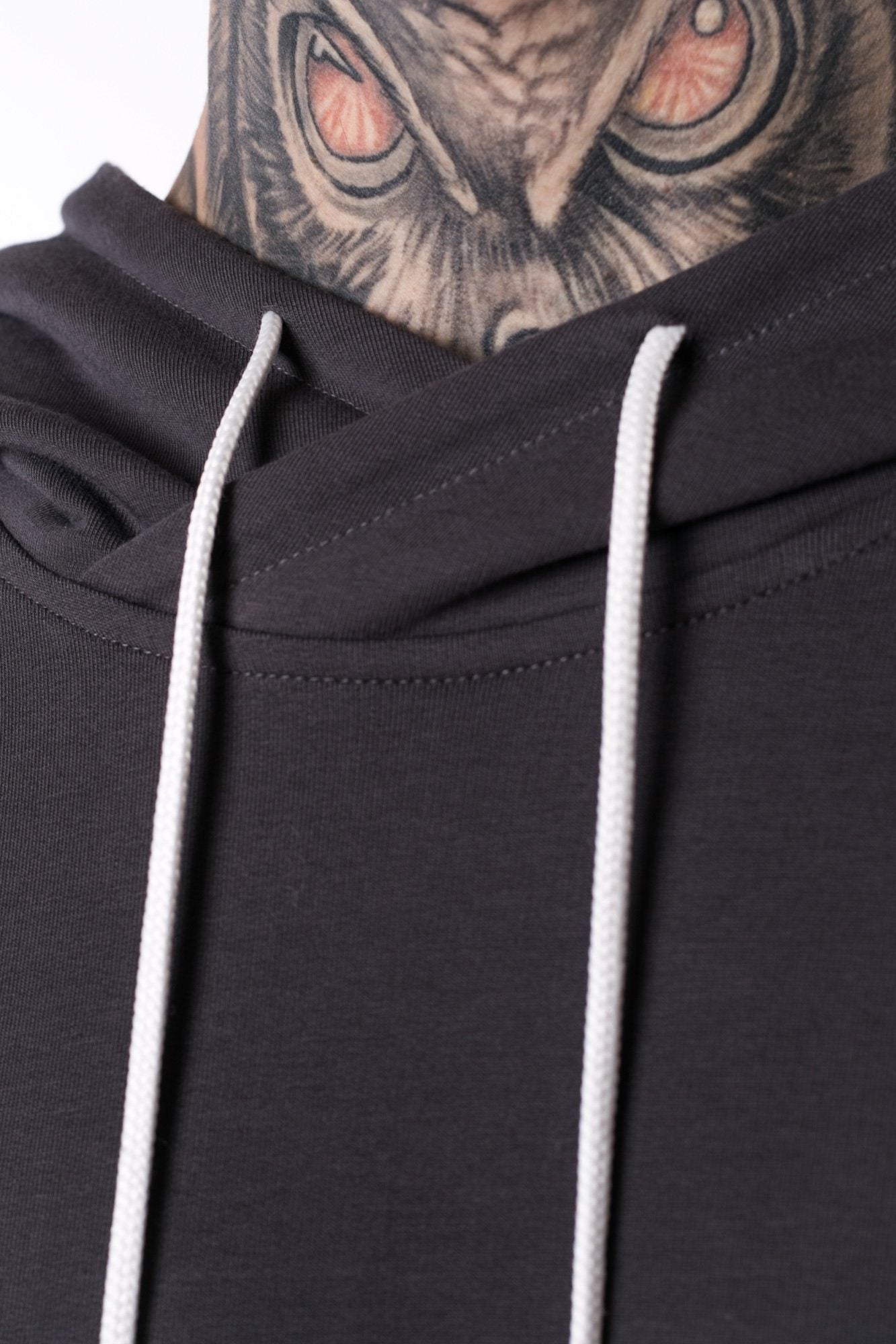 The Man Panelled Hoody 17 // charcoal