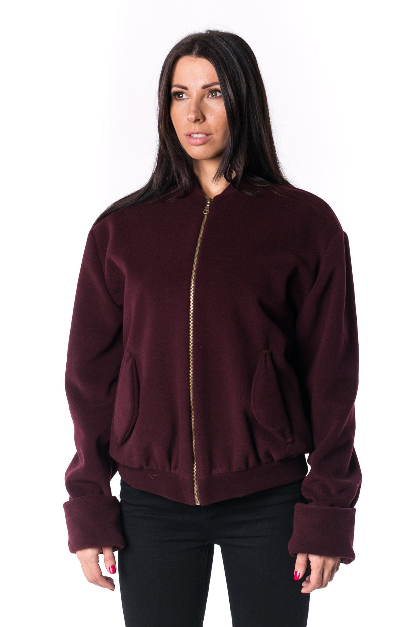 The Woman Panelled Bomber 17 // wine