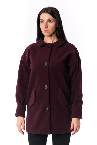 The Woman Panelled Trenchcoat 17 // wine