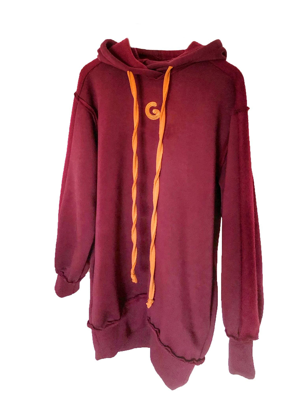 TheG Fresh Oversize Hoody Woman // merlot-orange