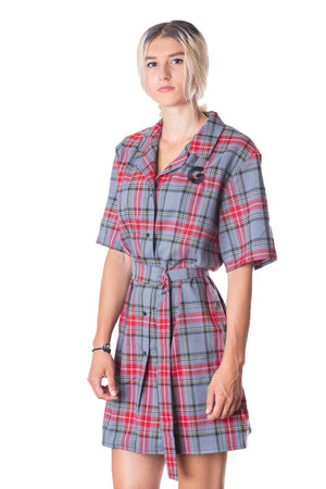 Tartan Woman Dress // gry