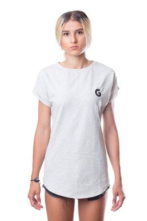 French Terry Woman Oversize Tee // off-white
