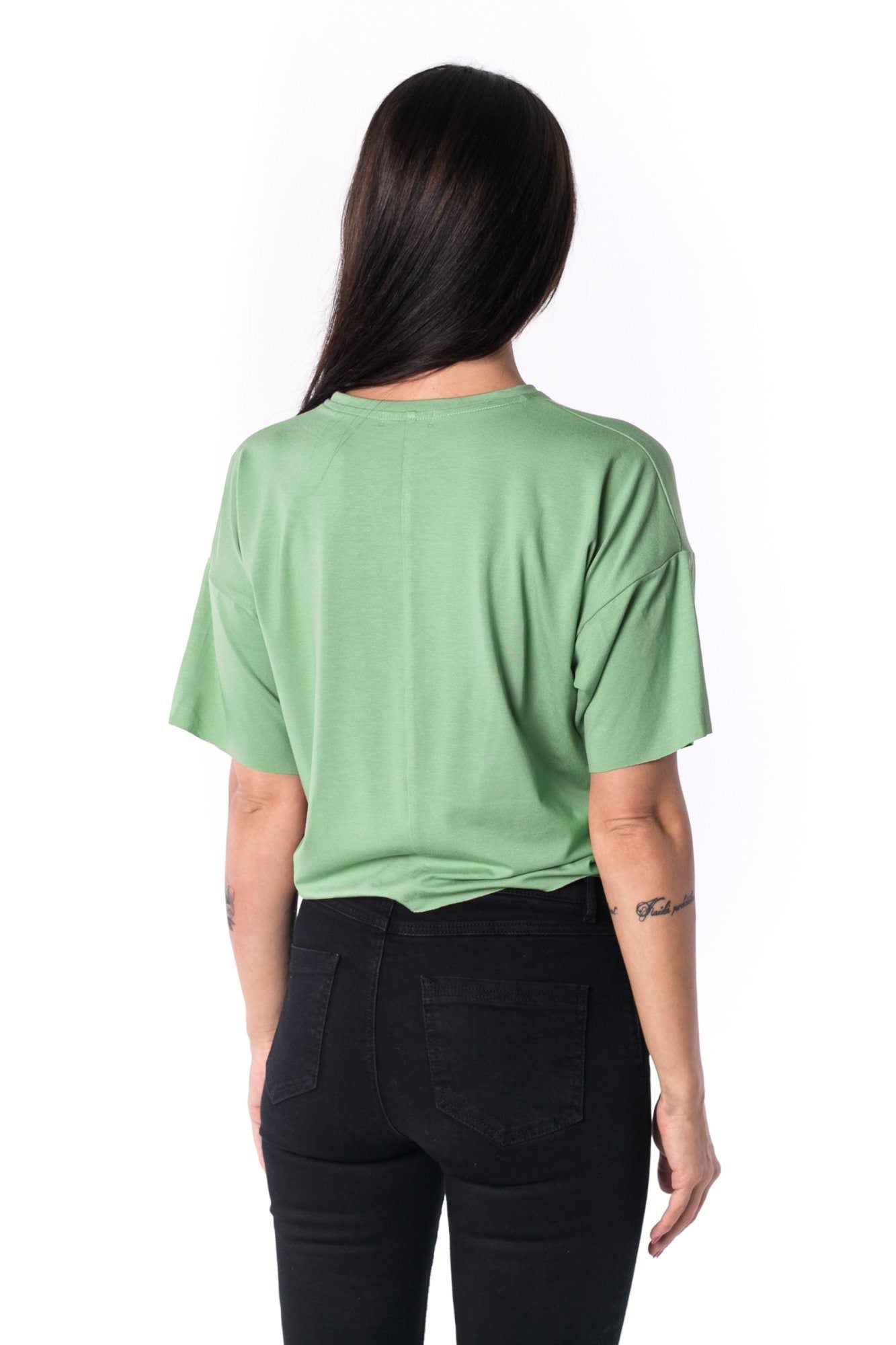 TheG Woman Panelled Oversize Crop Tee 17 // mentol