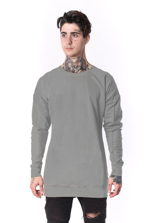 The Man Panelled Pullover Crewneck 17 // light grey
