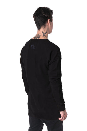 The Man Panelled Pullover Crewneck 17 // black