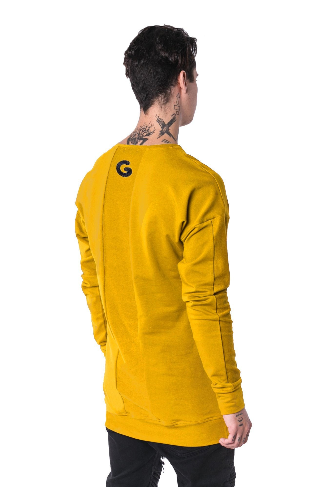 The Man Panelled Pullover Crewneck 17 // yellow