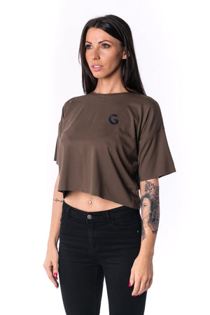 TheG Woman Panelled Oversize Crop Tee 17 // firgreen