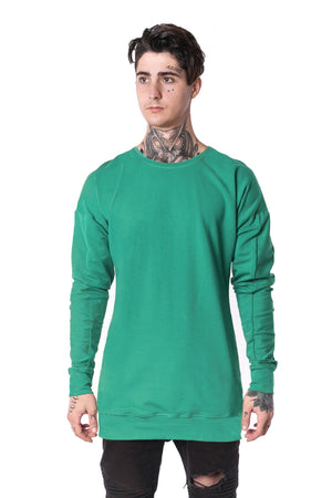 The Man Panelled Pullover Crewneck 17 // mint
