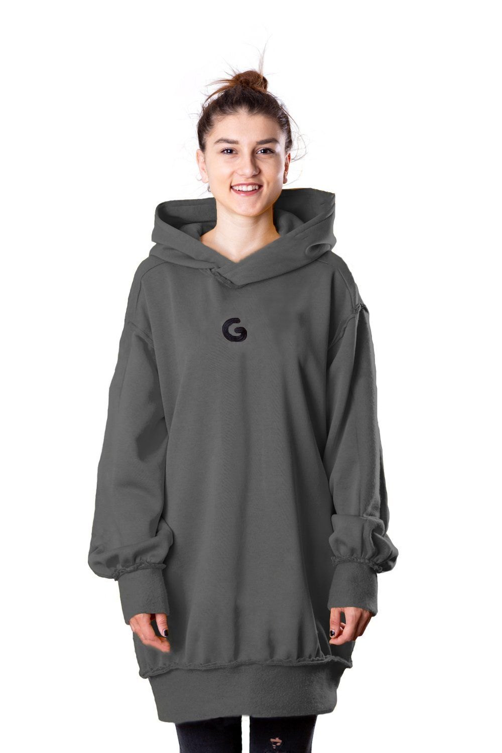 TheG Fresh Oversize Hoody Woman // washed gray